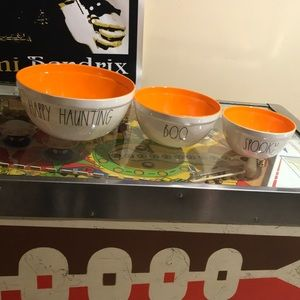Rae Dunn Halloween bowls